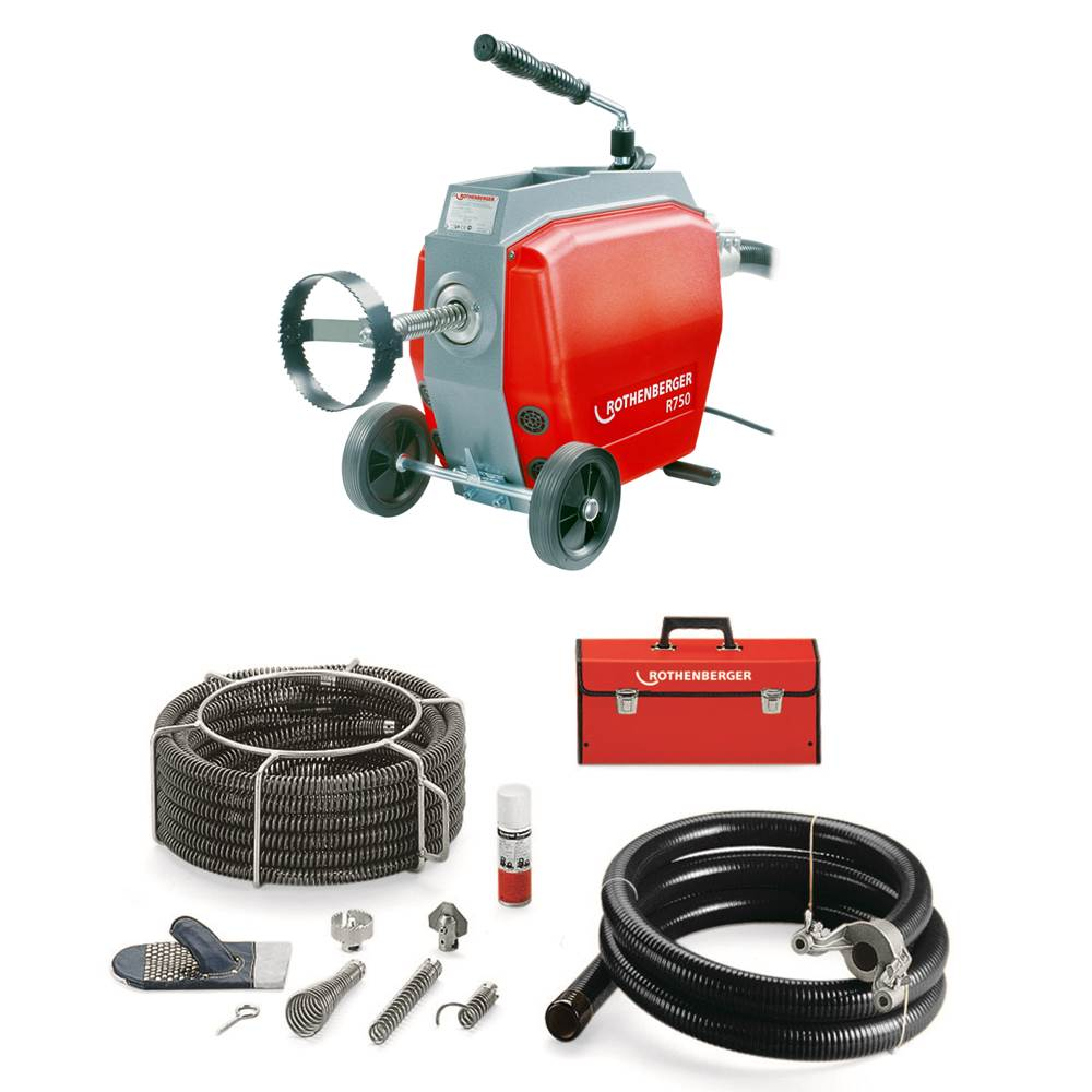 this rothenberger r50 will help us clean your pipes and drains